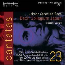 Bach: Cantatas, BWV 10, 93, 107, 178 (Volume 23): Masaaki Suzuki - Bach Collegium Japan