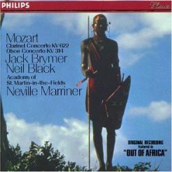 Mozart - Concerto pour clarinette / Concerto pour hautbois: Neville Marriner - St Martin in the Fields - Jack Brymer (clarinette) - Neil Black (hautbois)