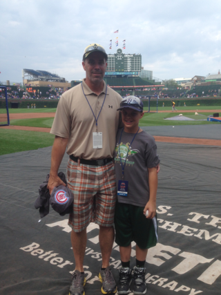 On Field at Wrigley