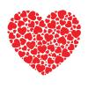 Heart-made-small-hearts-vector-32804992