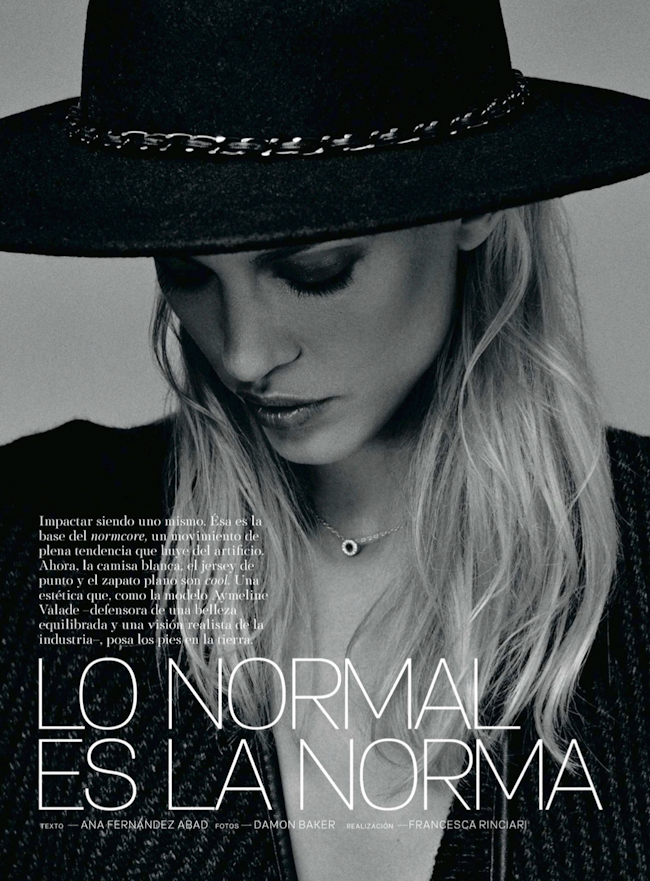 S MODA MAGAZINE Aymeline Valade in Lo Normal Es La Norma by Damon Baker. Francesca Rinciari, August 2014, www.imageamplified.com, Image Amplified