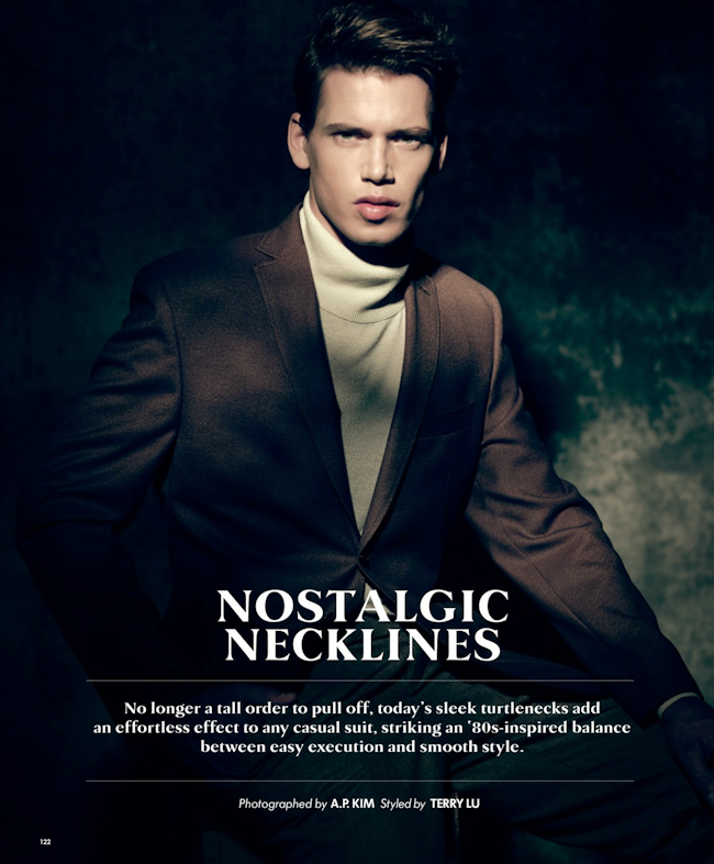 ESSENTIAL HOMME Mark Cox in Nostalgic Necklines by AP Kim. Terry Lu, September 2014, www.imageamplified.com, Image Amplified