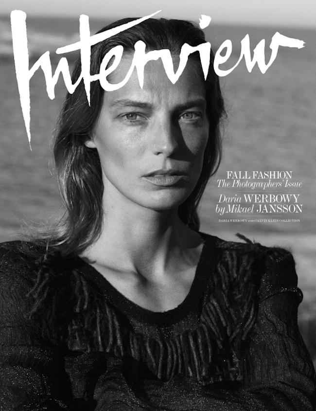 INTERVIEW MAGAZINE Daria Werbowy by Mikael Jansson. Karl Templer, September 2014, www.imageamplified.com, Image Amplified