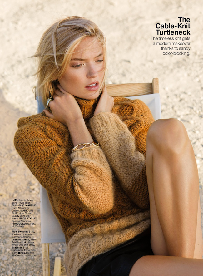 LUCKY MAGAZINE Martha Hunt in Cold Comfort by Hans Neumann. Lawren Howell, November 2014, www.imageamplified.com, Image Amplified