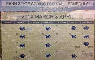 PSU practice schedule