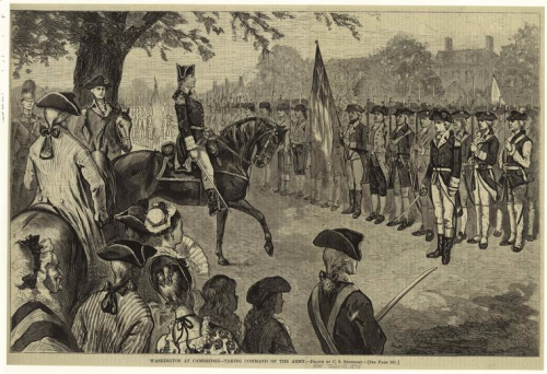 George Washington Taking Control at Cambridge by Charles Stanley Reinhart