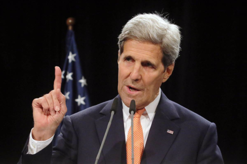 John Kerry pointing