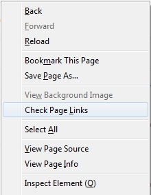 Screen shot of right-click menu