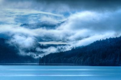 Dark Clouds of Lake Crescent, Olympia National Park
