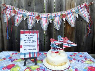 Happy Birthday USA by Lynne Forsythe