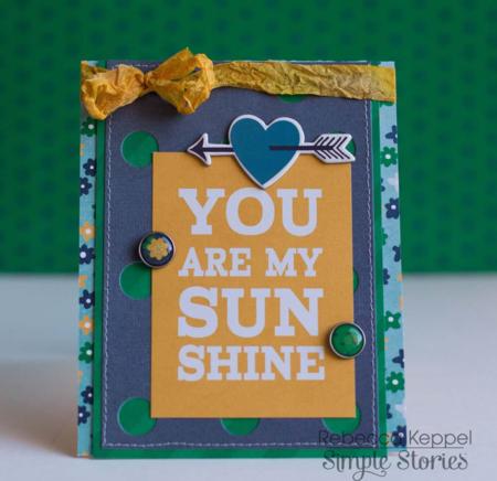 Rk ss you are my sunshine card cu1