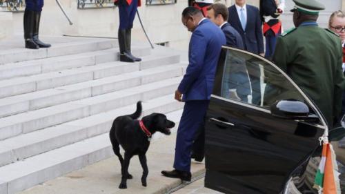 Nemo Macron greets Niger's president.