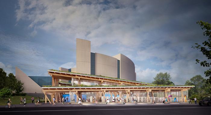 Scarborough Civic Centre Branch Toronto Public Library rendering