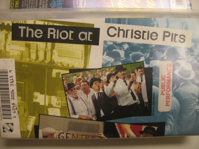 VHS video The riot at Christie Pits