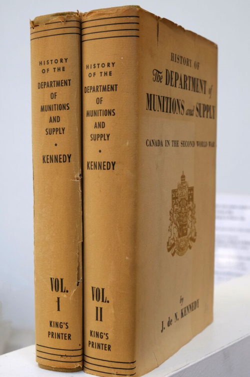 History of the Department of Munitions and Supplies (Canadian 2 volumes and signed by C. D. Howe)