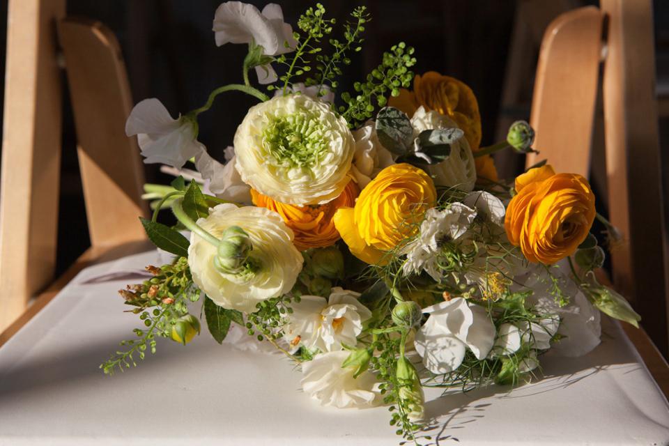Minna wedding dress // Spring time yellow wedding // London Canal Museum Wedding // Richmond Pictures