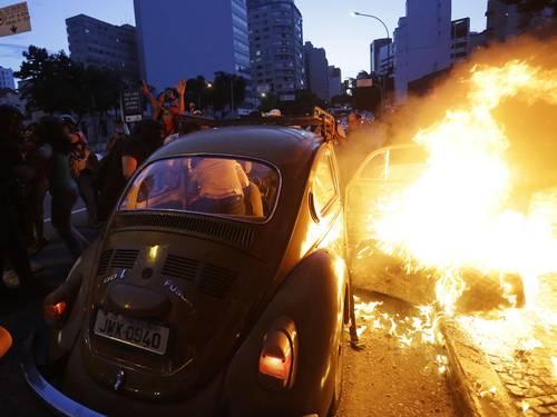 Manifestaciones contra la Copa en São Paulo