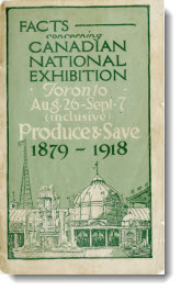 Facts concerning Canadian National Exhibition, 1918