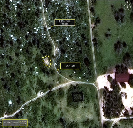 Overview - Satellite image of mass burial site in Burundi