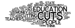 Wordle response to Christie Budget displeased only