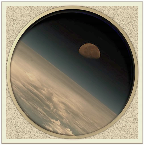 """Imagen tratada de """"la Tierra, vista desde la ISS"""". (Foto: NASA)"""