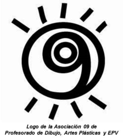 Logo de la Asociación 09 de Profesorado de Dibujo, Artes Plásticas y EPV