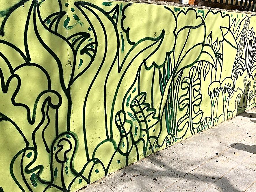Primeras pinturas en el muro
