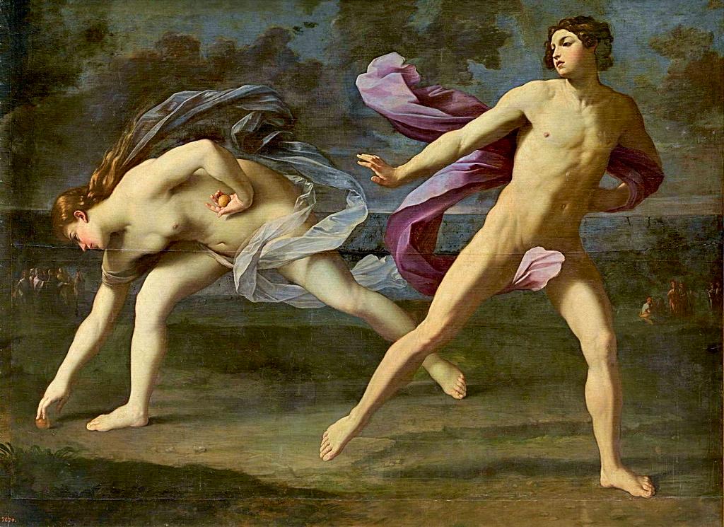 Hipómenes y Atalanta de Guido Reni - Museo Nacional del Prado, Madrid. Disponible bajo la licencia Dominio público vía Wikimedia Commons