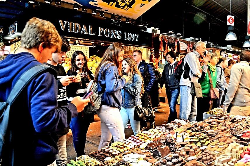 Fotografía de la profesora del área visual y plástica: Francesca Cristina (2015) Mercado de la Boqueria.