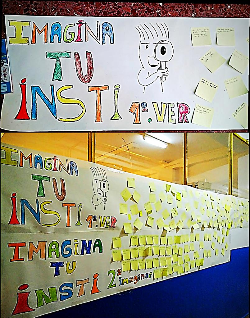 Mural colectivo 'Imagina Tu Insti', proyecto colaborativo de centro | Ramón Besonias