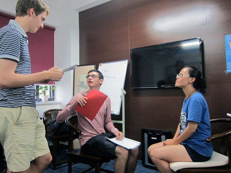 CIEE Beijing - Practicing their skit