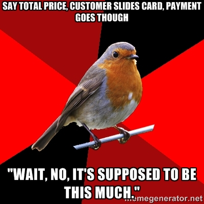 Retail robin wrong price