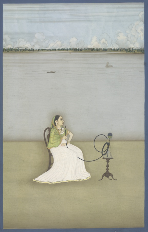 Mutuby, mistress of Ashraf 'Ali Khan. Attributed to Dip Chand, Patna, 1764. British Library, Add.Or.735.