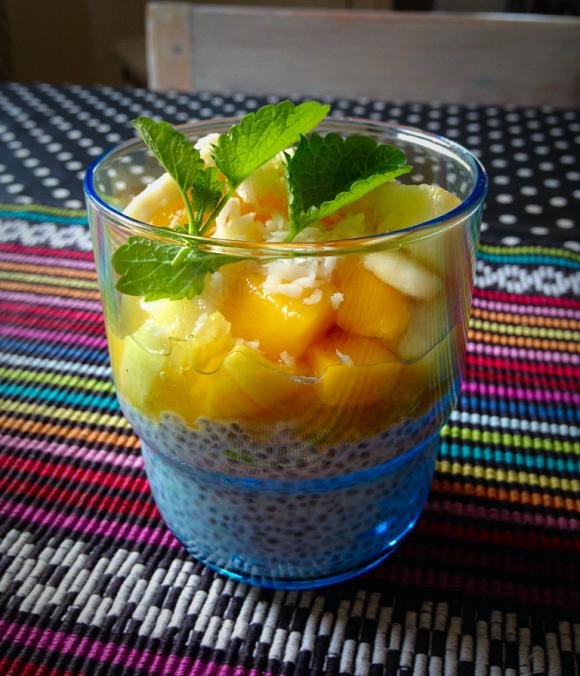 Chiapudding med lime och kokos