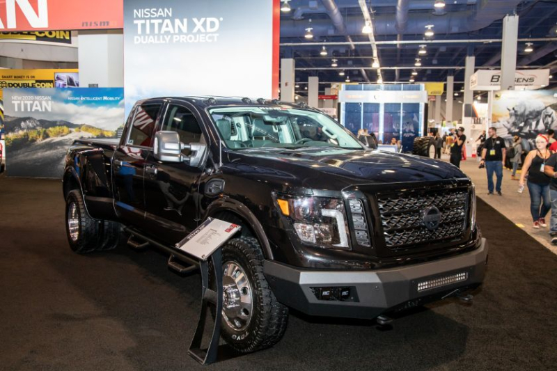 2019 Nissan Titan XD Dually Front Angle
