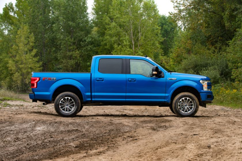 Ford F-150 with 2-inch suspension lift kit