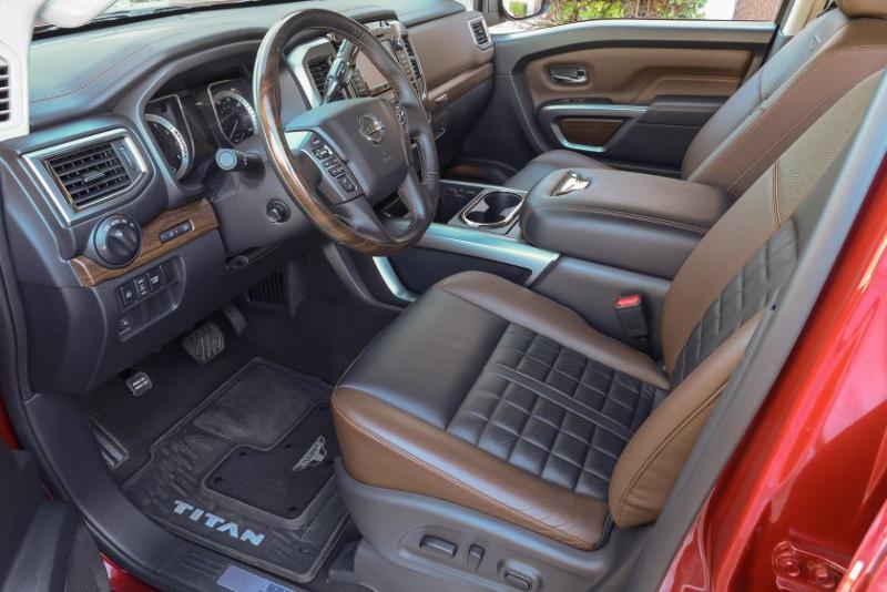 2019 Nissan Titan Platinum Reserve Front Seat