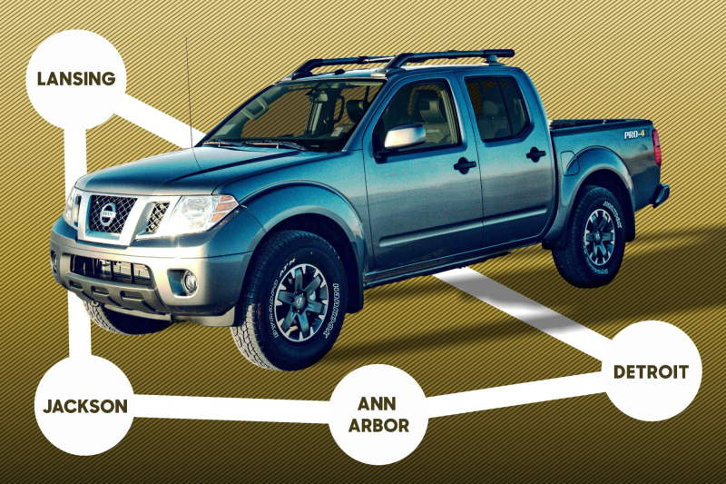 2020 Nissan Frontier Pro-4X Mileage Route Graphic