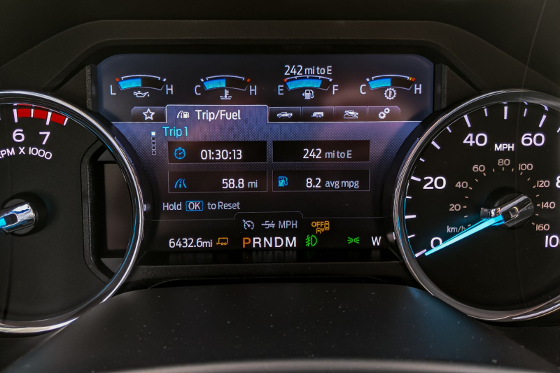 2020 Ford F-250 Trip Computer MPG For Trailer Run