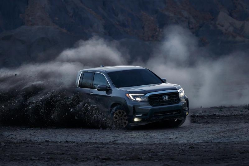 2021 Honda Ridgeline Kicking Up Mud