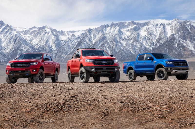 Three 2020 Ford Rangers With Off-Road Accessory Packages