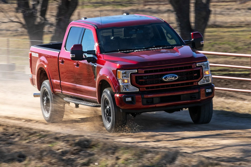 2022 Ford Super Duty Lariat Front Profile