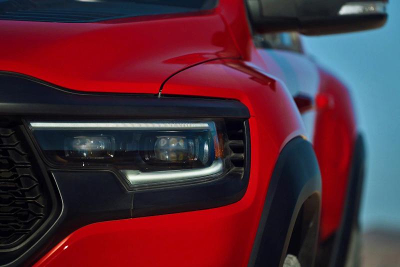 2021 Ram 1500 TRX Front Headlight Closeup
