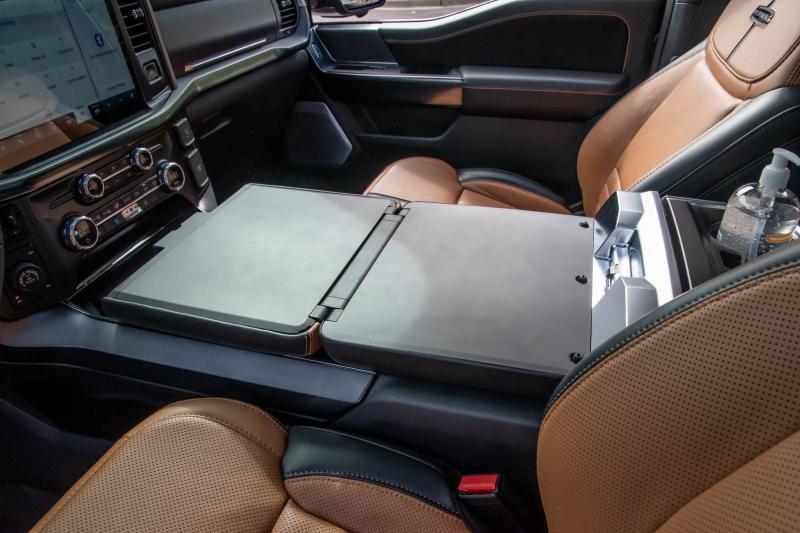 2021 Ford F-150 center console