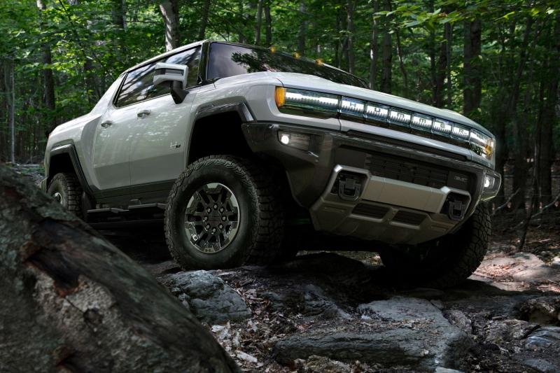 2022 GMC Hummer EV On Rocks