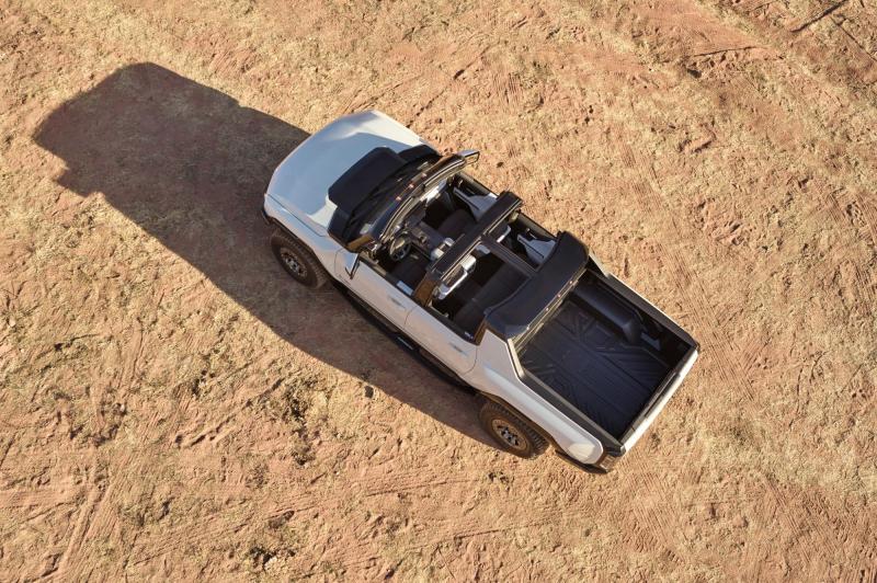 2022 GMC Hummer EV Overhead View