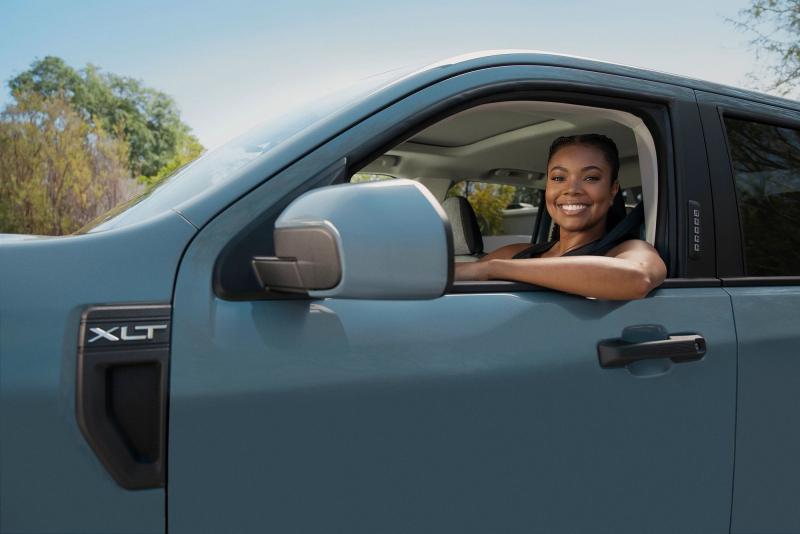 Gabrielle Union In A 2022 Ford Maverick Pickup Truck