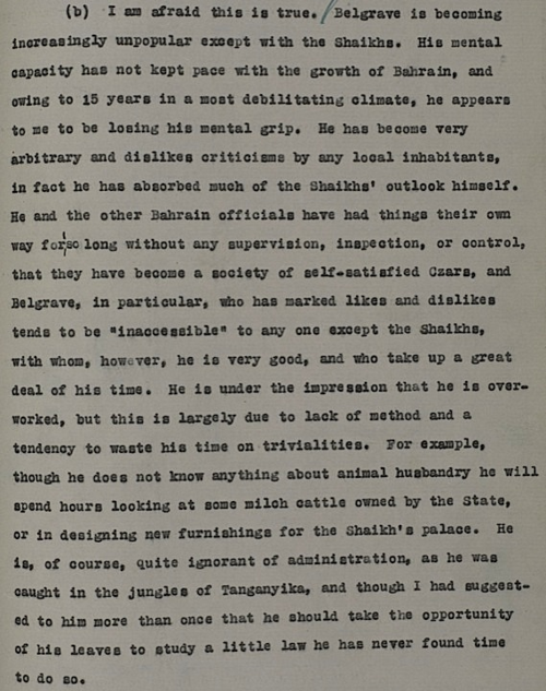 Extract of letter from Charles Geoffrey Prior to O.K Caroe at the India Office in London, 25 May 1941. (IOR/R/15/1/344 f. 129)