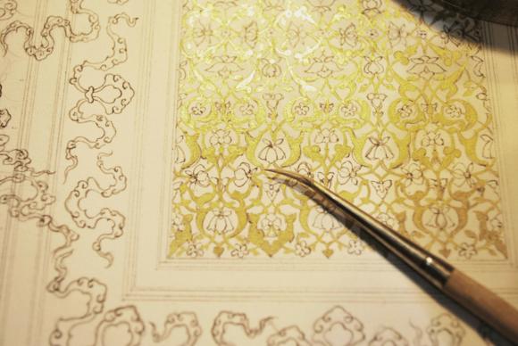 Starting work on the Pir Budaqi illumination.ⓒ Anita Chowdry