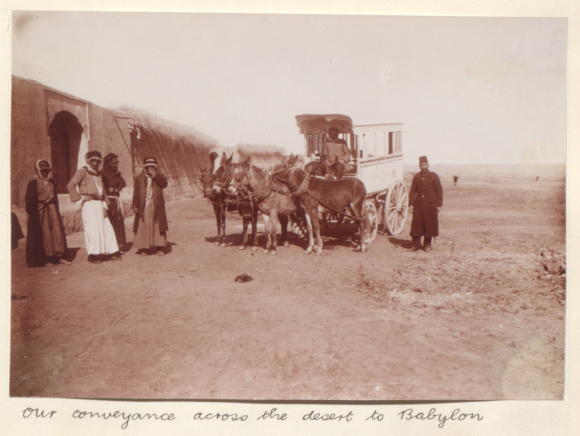 Our conveyance across the desert to Babylon